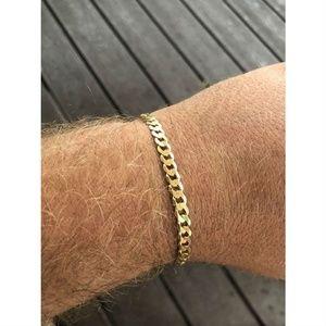 "Harlembling Mens Miami Cuban Link  8"" Bracelet"